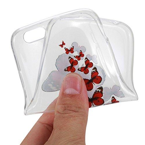 Pour Apple iPhone 6 Plus (5,5 Pouces) Coque ZeWoo® Étui en Silicone TPU Housse Protecteur - HX014 / Flamants Roses HX008 / Des Papillons En Volant