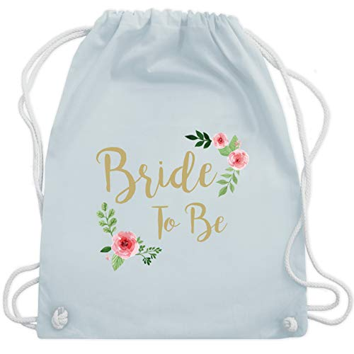 JGA Junggesellinnenabschied - Bride To Be - Unisize - Pastell Blau - WM110 - Turnbeutel & Gym - Stagette Kostüm