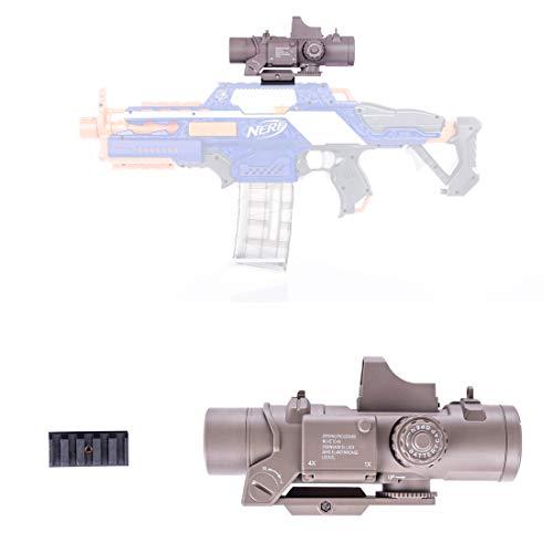 LoKauf Tattica Scope con 5CM Rail per Nerf N-Strike Elite Infinus/Nerf Stryfe/Nerf Retaliator/Nerf Rapidstrike/Nerf Modulus Regulator
