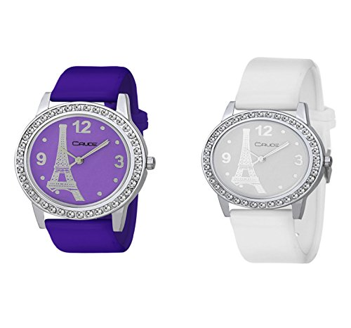 Combo Pack of 2 Crude Analog Multi-Color dial Women's Watch-rg747