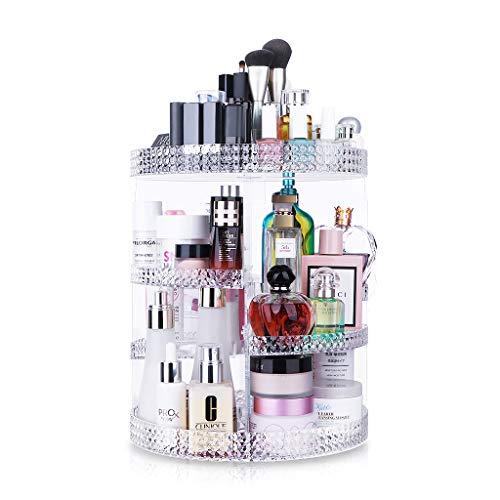 Awenia Organizador de Maquillaje Giratorio 360 Grados Organizador de Cosméticos Transparente Acrílico, con 7 Bandejas Ajustables, para Baño Dormitorio, 28 * 38cm