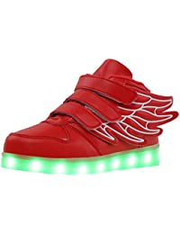 bevoker LED Kinderschuhe Jungen USB Aufladen LED Sportschuhe High-Top Sneakers Für Kinder