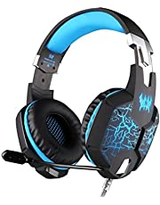 Kotion Each Over the Ear Headsets with Mic & 7 Color RGB LED - G1100 Edition