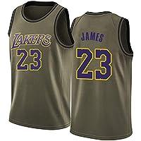 Camiseta de Baloncesto James # 23 Lakers, Chaleco Deportivo de Entrenamiento con Bordado Retro Juvenil para Hombres, Camiseta Transpirable y de Secado rápido S-XXL-L