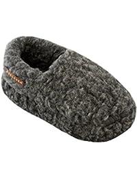 34497226bb5da9 Relaxen Warme Hüttenschuhe Hausschuhe aus Schafwolle Unisex Winter Damen  Herren Pantoffeln Anti-Rutsch-Sohle Haus Stiefel mit…
