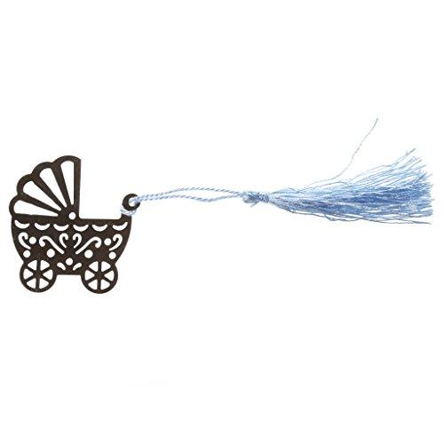 (Generic Hochzeit Bevorzugungen Kinderwagen Muster Lesezeichen Mit Quasten Blau)