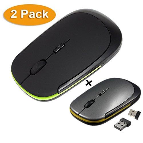 9ec1122ce9a4d Nifogo Kabellose Maus Slim Wireless Mouse - 2.4G Tragbar Optische Mäuse  Mice Ultra-dünne 1600 DPI für Notebook PC Laptop Computer MacBook