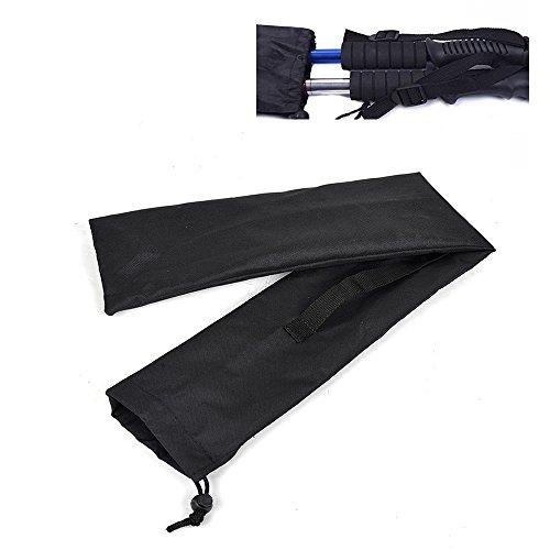 Buwico® Tasche für Stöcke für 1–2Stücke von 3Abschnitt Nordic Walking Stöcke, schwarz