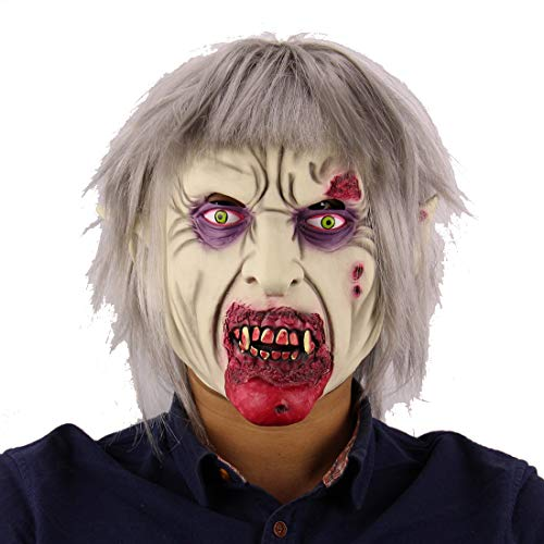 Halloween-Latex-Maske, Vampir-Zombie-Maske, Horror-Halloween-Dress Up Requisiten, Prank Maske Face Scary Halloween Kostüm Party, Bar-Requisiten, Maskerade (Zombie-dress Up Halloween-kostüme)