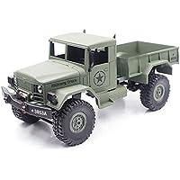 MODELTRONIC Camión army radio control completo HENG LONG 3853A 1:16 en 2.4Ghz Color verde Army
