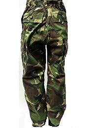 Dallas Wear Niños Pantalones, Militar, diseño de camuflaje