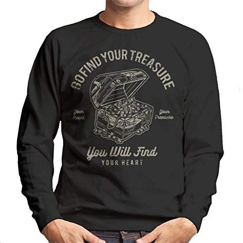 (Go Find Your Treasure Men's Sweatshirt)