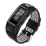 TRDCZ Smart Band Fitness Armband Herzfrequenz Tracker Smart Armband Fitness Armband GPS IP68 Wasserdicht Schrittzähler,Black
