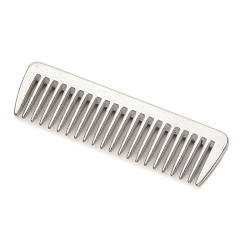 Traditional Metal Pulling Comb with Short Teeth for Ease of Use on Horse & Pony Manes & Tails AND Tigerbox® Antibacterial Pen! Test
