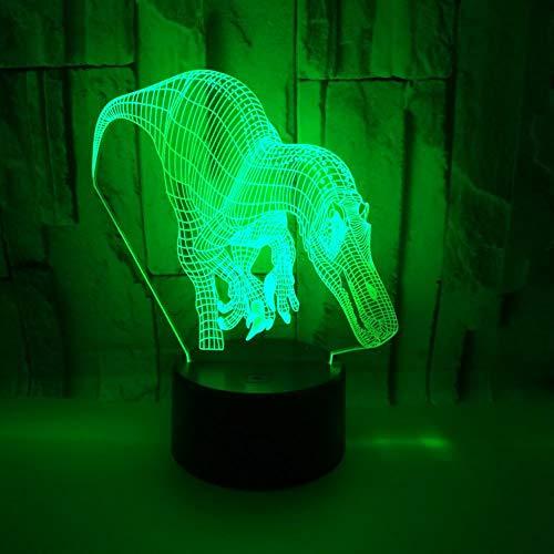 3D Optical Illusion Dinosaurier Nachtlicht Schreibtisch Tischleuchte Lampe Startseite Kinderzimmer Büro Party Thema Dekoration Geburtstag Urlaub Geschenk Von