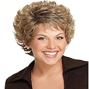 Women Lady Short Synthetic Hair Wigs Pixie Cut wig Short