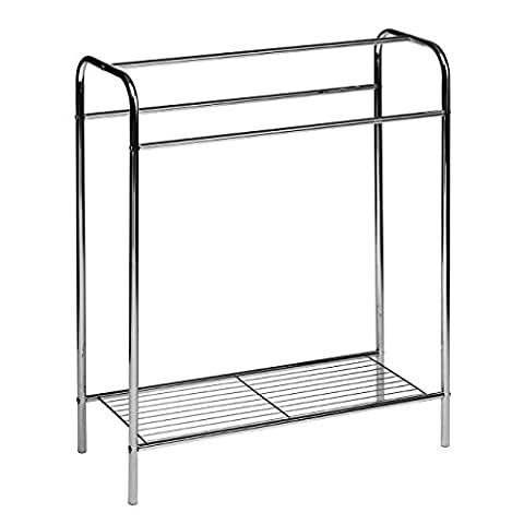 Premier Houseware Floor Standing Towel Stand,Chrome Plated Steel Tube/Steel Wire,
