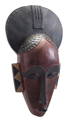 "Zuo Modern Tribal Maske, Polyresin, Mehrfarbig, Quoth x 29 3/4""W x 1""D"