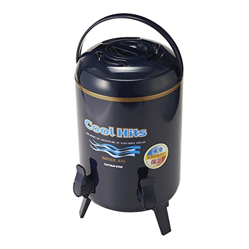 Captain stag (CAPTAIN STAG) Cool Hits twin cock water jug 10L navy M-5034 (japan import)