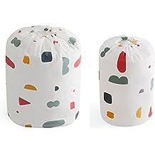 hilltoptocloud bolsa de almacenamiento organizador packing Hamper polvo ropa de cama colcha manta ropa de comestibles armario armario maleta equipaje cesta de basura con cordón, PEVA, pattern 2, 2 PC