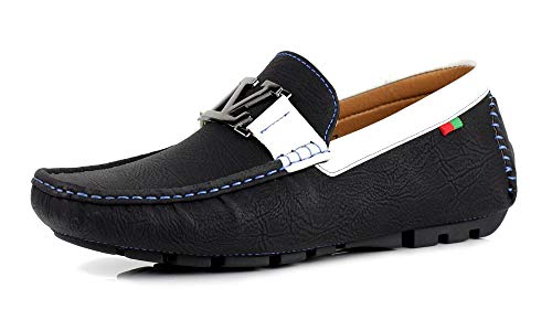57bb9e37a Zapatos Para Hombre Informales Conducción Diseñador Mocasines Mocasines Sin  Cordones Moda Italia Estilo negro GB -