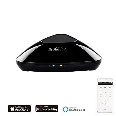 Broadlink RM Pro Wi-FI Smart Home Hub, IR RF Tout en Un Automatique Apprentissage Télécommande Universelle Compatible pour Apple Smartphones Android, RM Pro-EU, Noir de broadlink - Housses , Chargeurs , Kindle & Fire, Etuis
