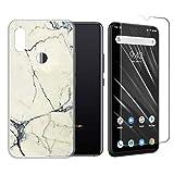 LJSM Hülle für UMIDIGI S3 Pro Semi-Transparent + Panzerglas Displayschutzfolie Schutzfolie - Weich Silikon Schutzhülle Crystal Flexibel TPU Tasche Case für UMIDIGI S3 Pro (6.3
