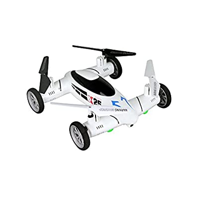 UAV, Lovebay SY X25 2.4G RC Quadcopter Drone Flying Fly Car Land / Sky 2 in 1 UFO RTF Mode 2