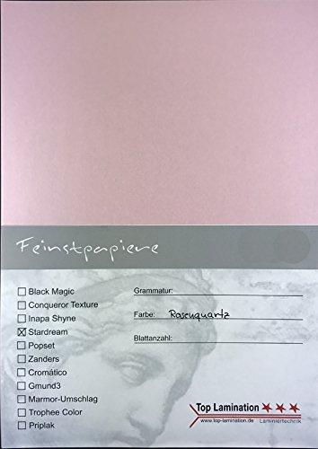 50 Blatt DIN A5 rosa glänzendes Papier 120g/m² komplett durchgefärbt für Drucke die edel aussehen