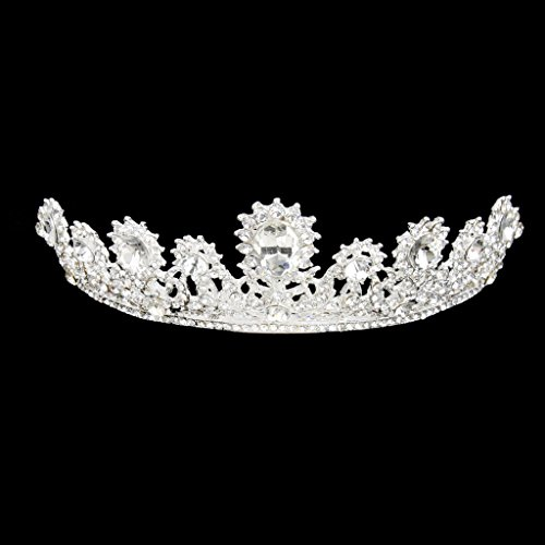 Tiara Corona Diadema Tocado Forma de Lágrima Diamantes de Imitación Decoraón Novia Boda