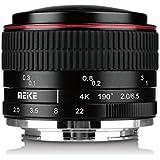Meike MK 6.5mm F / 2.0 circulaire Objectif de la caméra Fish-eye pour Sony A6000, A6100, A6300, Nex3, Nex3n, Nex5, Nex5t, Nex5r, Nex6, Nex7 Caméra Sans Miroir Avec Adison Chiffon De Nettoyage