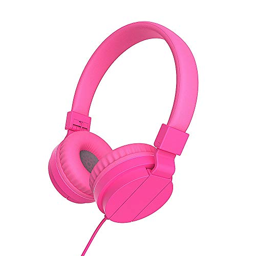 PMWLKJ Deep Bass Kopfhörer Earphones 3,5mm Faltbare Portable Gaming Headset Für Phones Mp3 Mp4 Computer Pc Rosig Headset Portable Phone
