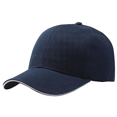 ESAILQ - Casquette de Baseball - Homme - bleu - Taille Unique