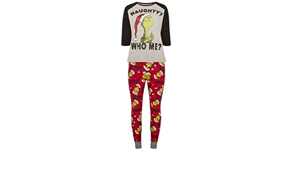 Primark Ladies Girls Grinch Christmas Xmas Pyjama Pj T Shirt Legging
