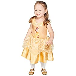 Disney Princesas Disfraz Bella, talla 18-24 meses, color amarillo (Travis Designs DCPRBEG18)