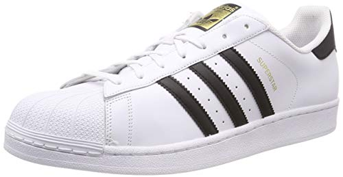 Adidas Originals  Superstar Scarpe da Ginnastica Unisex - Adulto, Bianco (Ftwr White/Core Black/Ftwr White), 45 1/3 EU