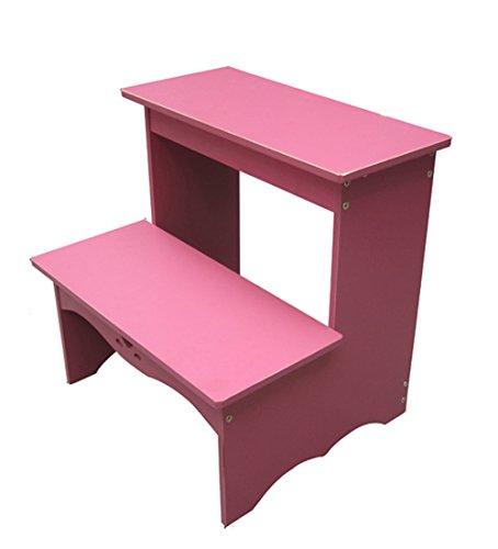MIAOLIDP Kinderstuhl Hocker Wechsel Schuhbank Regal Bett Leiter Trittleiter Trittleiter Speicherleiter, Leitern (Color : Pink) - Stil Kinder Panel-bett