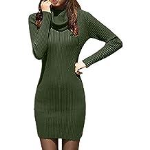 Fiesta Vestido para Mujer,Mujeres de Invierno de Manga Larga de Punto Bodycon suéter Vestido