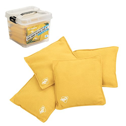 Triumph Blue Canvas Cornhole Bags - 8 Beutel Includes, Größe 15,2 x 15,2 cm, 16 oz, Bean Bags, 4-Pack 16oz Canvas Duck, Tub (Yellow), gelb, 6x6 -