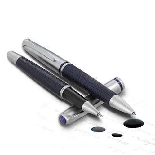 monte-lovis-schreibset-kugelschreiber-und-fuller-artigem-stift-mit-kunstleder-applikation-im-runden-