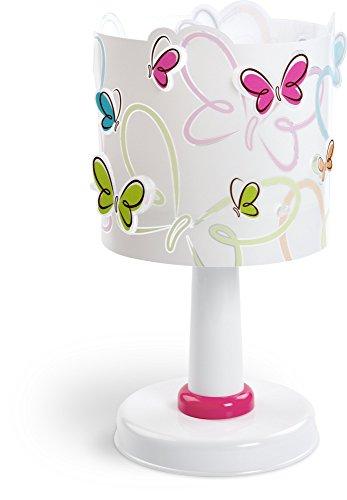 Dalber 62141 - lampada con paralume decorato con farfalle variopinte