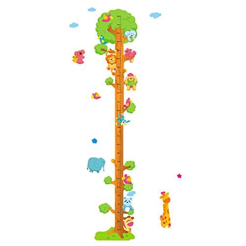 Wangjie Pegatina para Medir Altura para Pared Adhesiva para Niños Pegatinas de Pared Infantil de Dibujos Animados Decorativa para Habitación