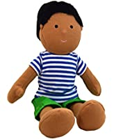 One Dear World 32cm Soft Rag Doll - South Asian Indian Boy Parth with Removable Clothes for Toddlers and Young Children