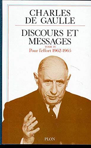 Discours et messages (04) par Charles de GAULLE