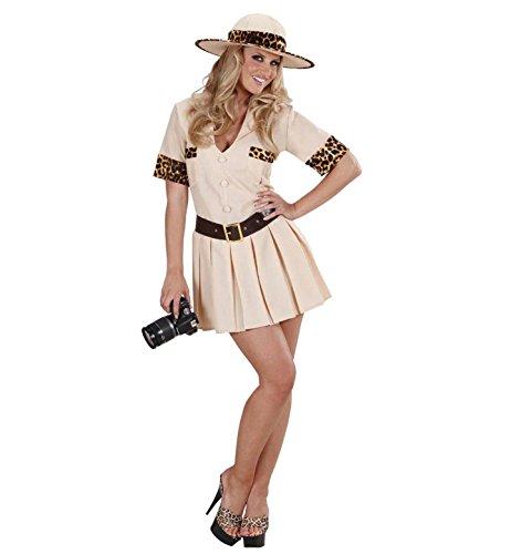 WIDMANN Damen Safari-Kostüm, Größe M (38-40), für tropisches Afrika, Indianer-Kostüm