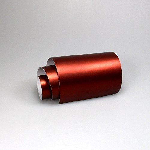 TipTopCarbon 16,45€/m² Chrom Autofolie Matt Ice Rot 0,3m x 1,52m Auto Folie BLASENFREI mit Luftkanälen 3D Flex