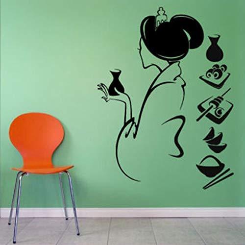 Sushi Aufkleber Restaurant Aufkleber Poster Vinyl Wandtattoos Aufkleber Wandtafel Dekor Wandbild Sushi Aufkleber 74x56cm