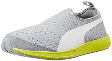 Puma Unisex FTR TF-Racer Slip-on Quarry and White Mesh Running Shoes - 10 UK