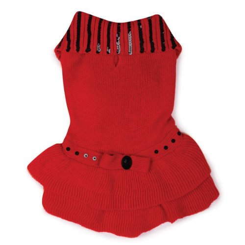 Artikelbild: East Side Collection Acrylic Scarlet Knit Dog Dress, XX-Small, 8-Inch, Red by East Side Collection
