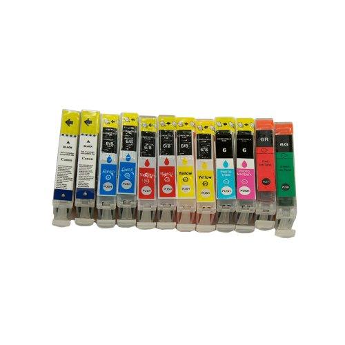 12 Druckerpatronen Tinte für Canon I 9900 I 9950 Pixma IP 8500 ersetzen BCI-6